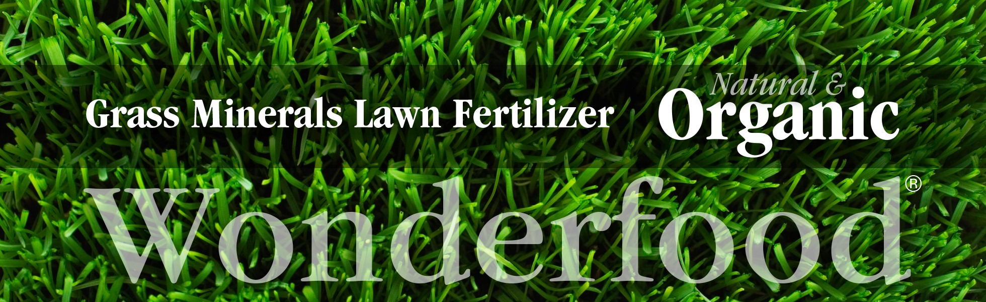 Lawn fertilizer. Organic lawn fertilizer. Grass fertilizer for healthy lawns